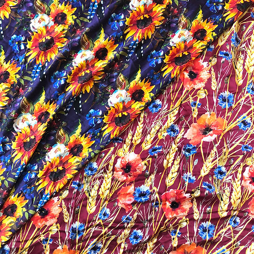 """44"""" Floral Scarves"""