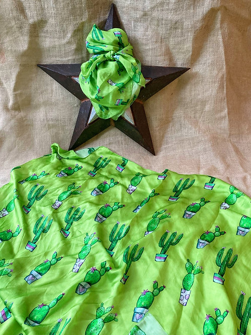Potted Cactus Scarf, multiple sizes