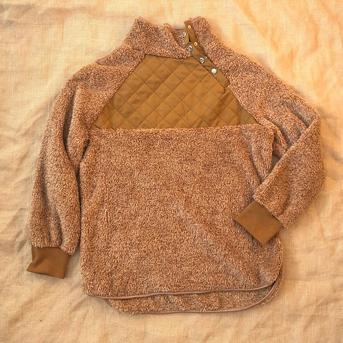 Camel Quilted Sweater S