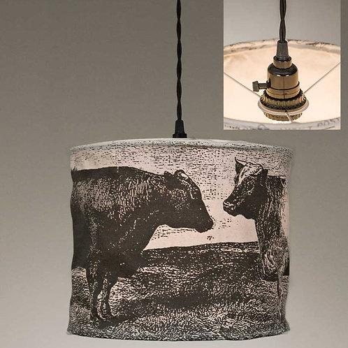 Canvas Cow Pendant Lamp