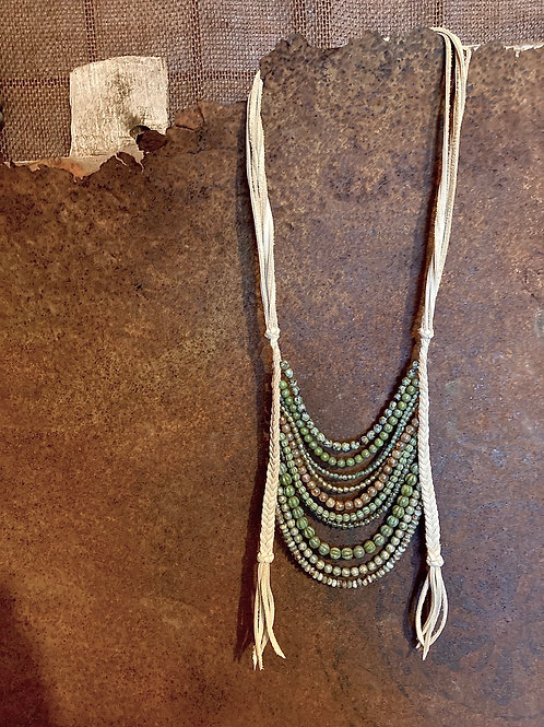 Czech Glass Bib Necklace