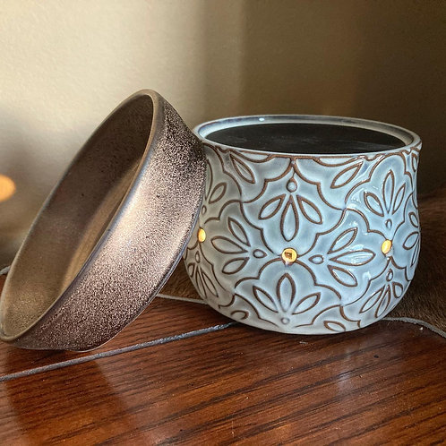 2-in-1 Land & Bronze Floral Deluxe Warmer