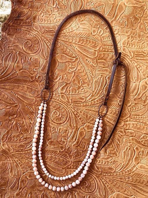 Red Line Jasper Bosal Hanger Necklace