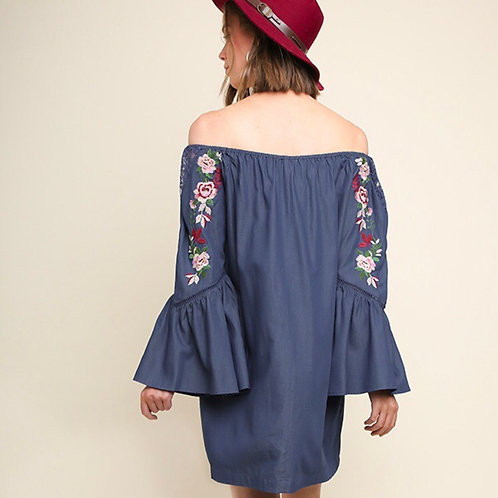 Embroidered Denim Tunic/Dress