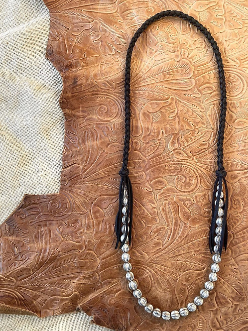 Antique Silver Fringe Necklace