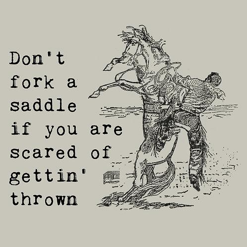 The Fork a Saddle Unisex Tee