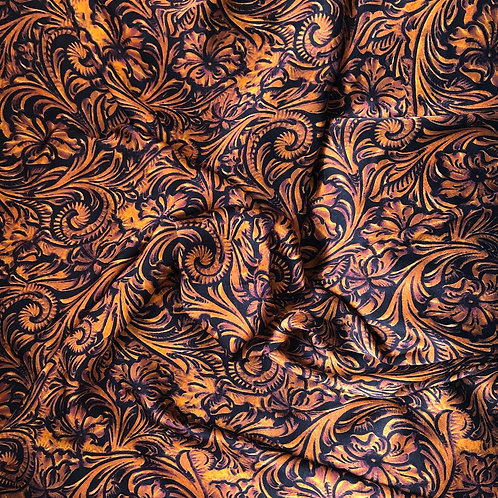 Tooled Leather Scarf