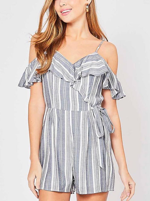 Striped Romper M/L