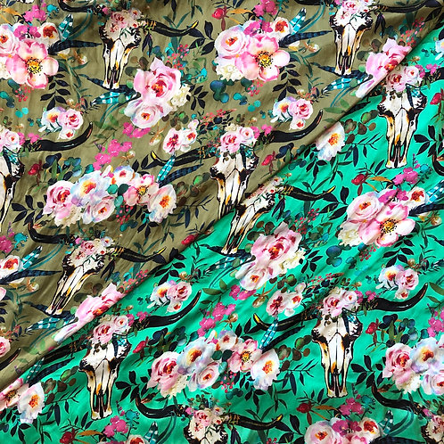 "44"" Floral Longhorns Scarf"