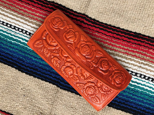 Faux Tooled Leather wallet