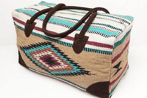 Travel Bag, tan, white & tan