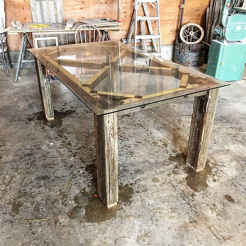 Glass Topped Kitchen Table