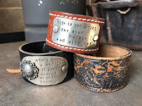 Dirt Road Girls Leather Cuffs
