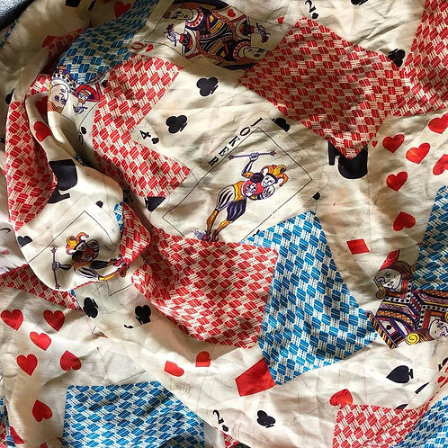 Playing Cards Scarf. Multiple Sizes
