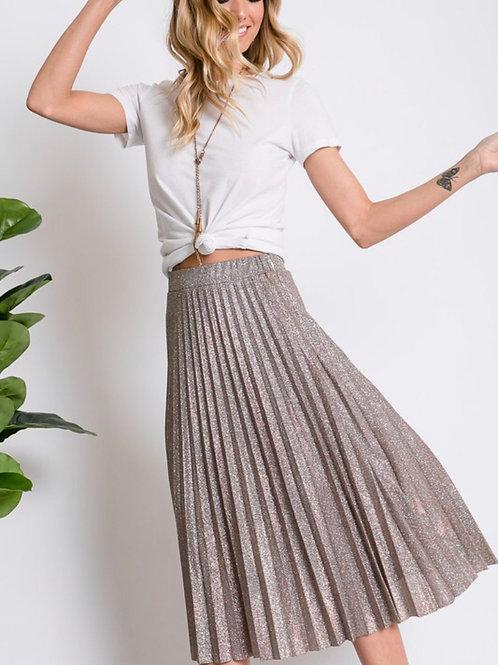 Pleated Rose Gold Skirt