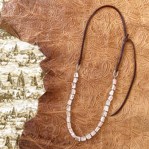 Rose Quartz Bosal Hanger Necklace
