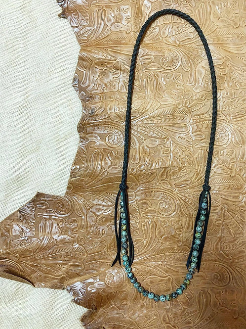 African Turquoise Fringe Necklace