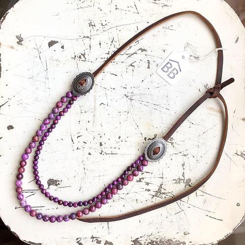 Purple Crazy Lace Agate Necklace