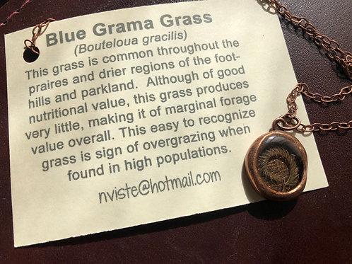 Blue Grama Grass Necklace