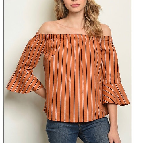 Rust Stripes Top
