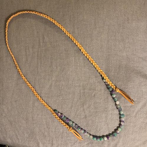 Purple & Turquoise Gemstone Necklace