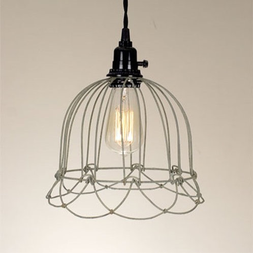 Small Bell Wire Pendant Lamp