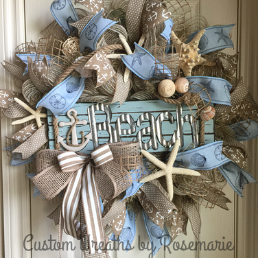 wreath, custom design, home decor