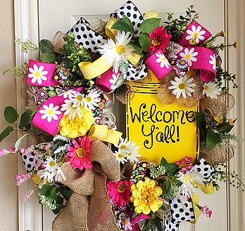 wreaths, handmade wreaths, home decor, custom wreaths, wreath, a wreathmaker, a wreath designer, flowers