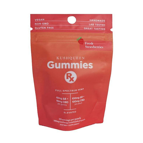 Gummies Rx Elevated Strawberry CBD + Delta 8 THC Chews