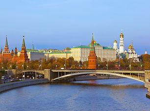 Kremlin en la puesta del sol