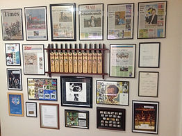 Group of sports memorabilia.