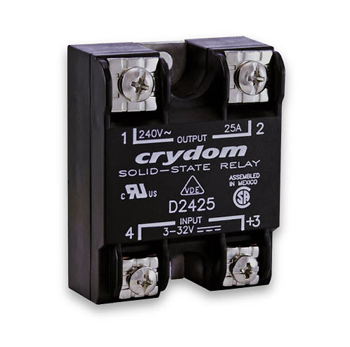 Crydom D2425 25 Amp / 240Vac, DC Input, Panel Mount Solid State Relay