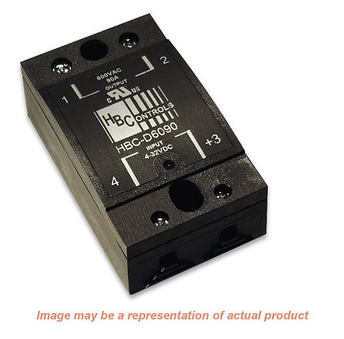 HBC-A6050 (Crydom CMA6050), AC Input, 50 Amp / 48-660Vac Solid State Relay