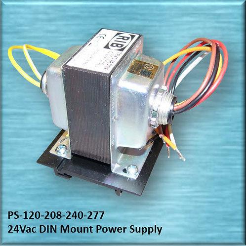 PS-120-208-240-277 24Vac / 40VA DIN Mount Power Supply