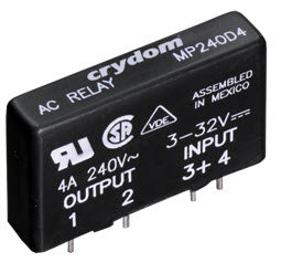 Crydom MPDCD3, DC Input, 3 Amp / 1-60Vdc PCB Mount Solid State Relay