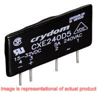 Crydom CX240D5, DC Input, 5 Amp / 24-280Vac PCB Mount Solid State Relay
