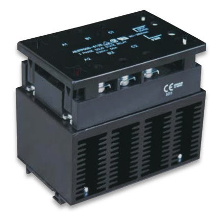 HBC-T50DK, DC Input, 30 Amp / 48-530Vac Three-Phase Solid State Relay Assembly