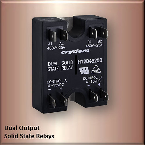 Crydom H12D4840D 40 Amp / 480Vac Dual Output Solid State Relay