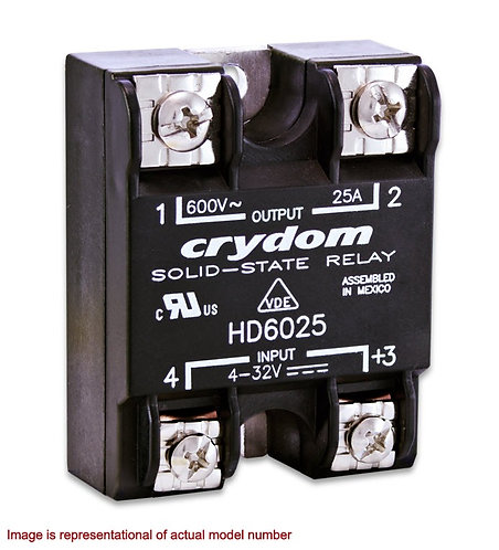 Crydom HA6090 90 Amp / 600Vac, AC Input, Panel Mount Solid State Relay