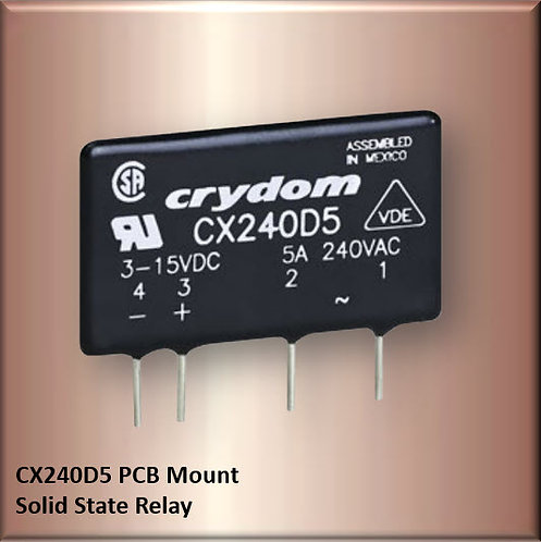 Crydom CX240D5 5 Amp / 240Vac PCB Mount Solid State Relay