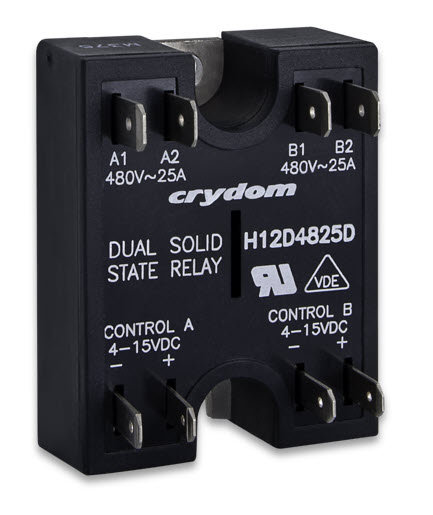 Crydom H12D4840DE 40 Amp / 480Vac Dual Output Solid State Relay
