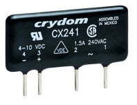 Crydom CX241, DC Input, 1.5 Amp / 24-280Vac PCB Mount Solid State Relay