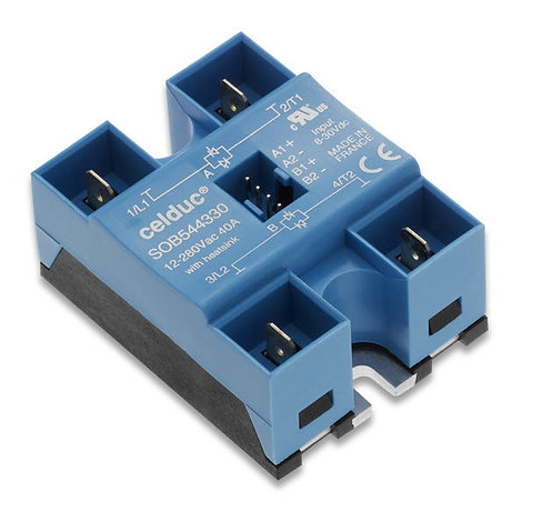 Celduc SOB544330 40 Amp / 12-275Vac, DC Input, Dual Output Solid State Relay
