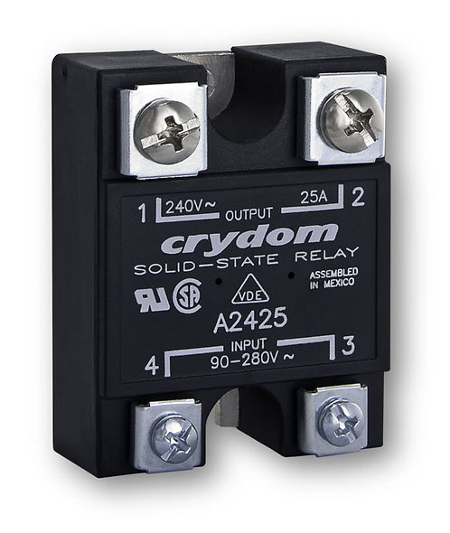 Crydom A2425 25 Amp / 240Vac, AC Input Panel Mount Solid State Relay