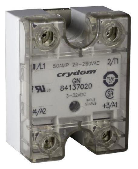 Crydom / Crouzet 84137120 50 Amp / 48-660Vac, DC Input, Solid State Relay