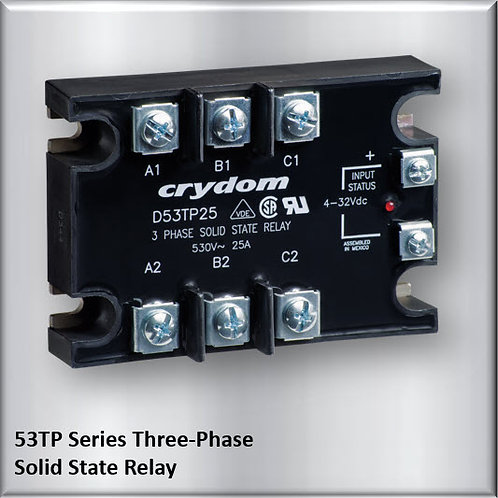 Crydom D53TP50D 50 Amp / 480Vac Three-Phase Solid State Relay
