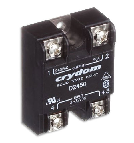 Crydom D2450 50 Amp / 240Vac, DC Input, Panel Mount Solid State Relay