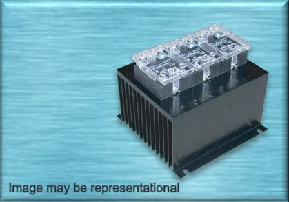 HBC-90HDG-2 DC Input, 50 Amp / 48-530Vac Two-Pole Solid State Relay Assembly
