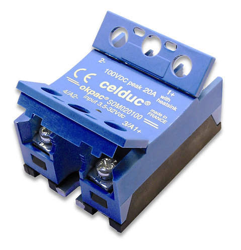 Celduc SOM040100 40 Amp / 5-60Vdc, DC Input, DC Output Solid State Relay