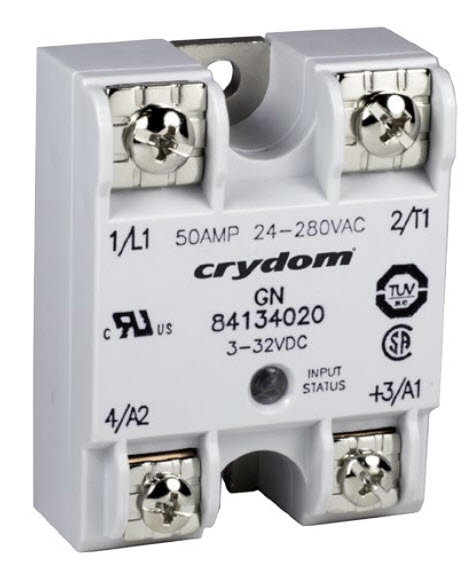 Crydom / Crouzet 84134020 50 Amp / 24-280Vac, DC Input, Solid State Relay